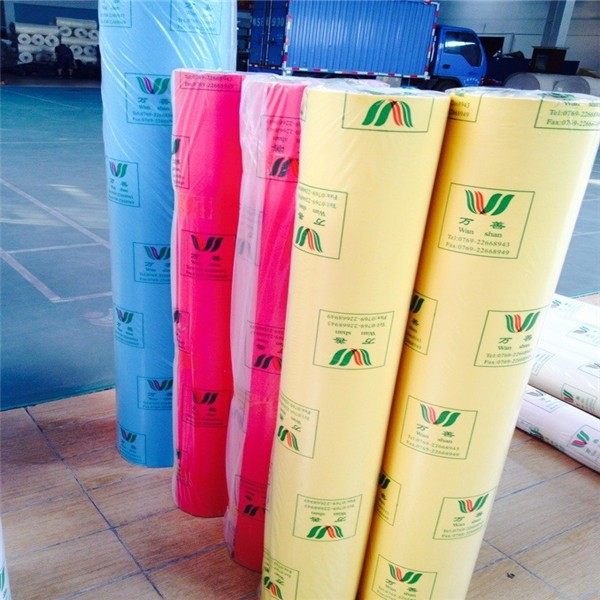 colorful paper back packing cloth