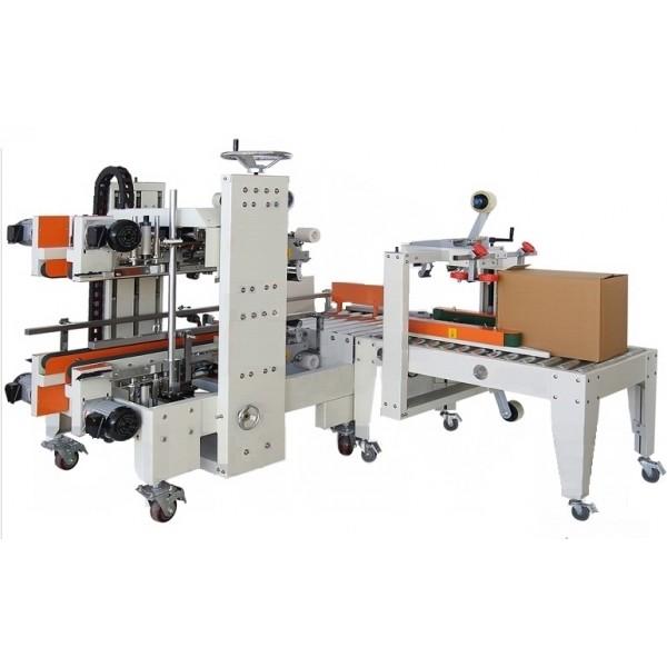 FXS-5050 Automatic Carton Edge Sealer + FXJ-5050B Carton Sealer